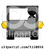 Black Thief Man Driving Amphibious Tracked Vehicle Front View