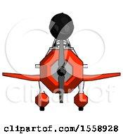 Black Thief Man In Geebee Stunt Plane Front View