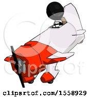 Black Thief Man In Geebee Stunt Plane Descending View