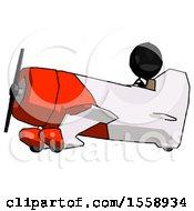 Black Thief Man In Geebee Stunt Aircraft Side View