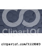 Clipart Of A 3d Metal Hexagonal Background Royalty Free Illustration by KJ Pargeter