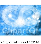 Clipart Of A Blue Network Background Royalty Free Illustration