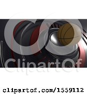 Poster, Art Print Of 3d Basketball Background