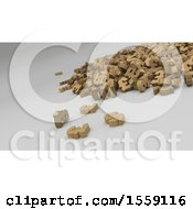 Poster, Art Print Of 3d Pound Sterling Pile On A Shaded Background