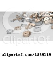 Clipart Of A 3d Number Pile On A White Background Royalty Free Illustration