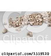 3d Question Mark Pile On A White Background