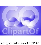 Clipart Of An Abstract Motion Background With 3D Fluid Shapes Royalty Free Vector Illustration