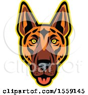 Clipart Of A Retro German Shepherd Dog Mascot Royalty Free Vector Illustration by patrimonio
