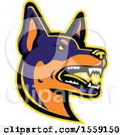 Clipart Of A Retro Australian Kelpie Dog Mascot Royalty Free Vector Illustration by patrimonio
