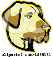 Clipart Of A Retro Anatolian Shepherd Dog Mascot Royalty Free Vector Illustration