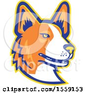 Clipart Of A Retro Cardigan Welsh Corgi Dog Mascot Royalty Free Vector Illustration