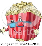 Clipart Of A Popcorn Bucket Mascot Royalty Free Vector Illustration