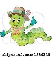 Poster, Art Print Of Caterpillar Holding Up A Finger