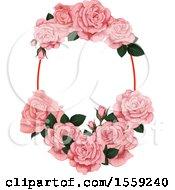 Poster, Art Print Of Pink Rose Frame Design