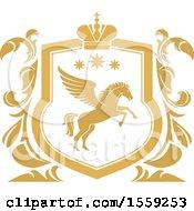 Golden Yellow Pegasus Shield