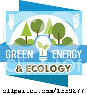 Blue And Green Eco Design With Text