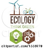 Poster, Art Print Of Hexagonal Eco Design With Text