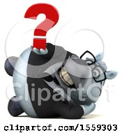 April 19th, 2018: Clipart Of A 3d Chubby White Business Horse Holding A Question Mark On A White Background Royalty Free Illustration by Julos