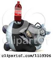 April 19th, 2018: Clipart Of A 3d Chubby White Business Horse Holding A Soda On A White Background Royalty Free Illustration by Julos