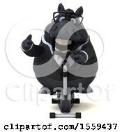 April 19th, 2018: Clipart Of A 3d Chubby Black Business Horse Exercising On A Spin Bike On A White Background Royalty Free Illustration by Julos
