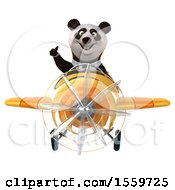 April 19th, 2018: Clipart Of A 3d Panda Flying A Plane On A White Background Royalty Free Illustration by Julos