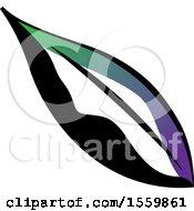 Beautiful Green Purple Black And White Leaf