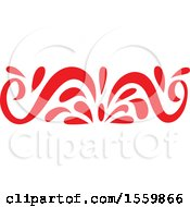 Poster, Art Print Of Red Oriental Styled Floral Design Element