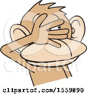 Clipart Of A See No Evil Monkey Royalty Free Vector Illustration