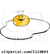 Happy Sunny Side Up Egg