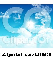 Clipart Of A 3d Blue Sky And Clouds Royalty Free Illustration by KJ Pargeter