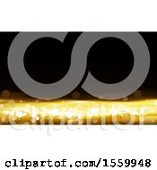 Clipart Of A Black And Gold Bokeh Flare Background Royalty Free Vector Illustration by dero
