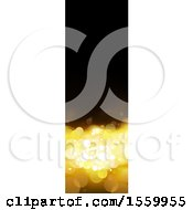 Clipart Of A Black And Gold Bokeh Flare Vertical Banner Royalty Free Vector Illustration