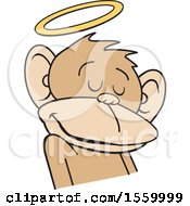 Poster, Art Print Of Do No Evil Innocent Monkey With A Halo