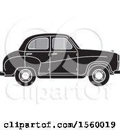 Grayscale Vintage Car