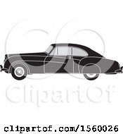 Grayscale Vinage Car