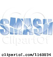 Clipart Of Broken Glass Spelling SMASH Royalty Free Vector Illustration by Lal Perera