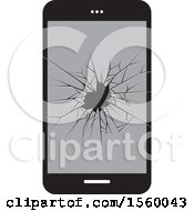 Broken Glass Cell Phone Screen