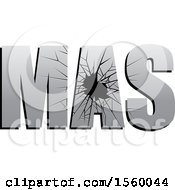 Clipart Of Broken Glass Spelling MAS Royalty Free Vector Illustration by Lal Perera