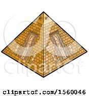 Clipart Of An Ancient Egyptian Pyramid Royalty Free Vector Illustration