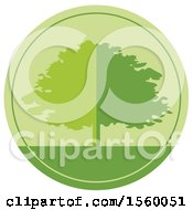 Round Green Tree Design