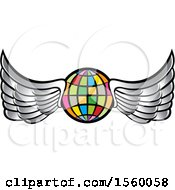 Colorful Winged Globe