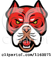Clipart Of A Retro Angry Tiger Bulldog Dog Mascot Royalty Free Vector Illustration by patrimonio