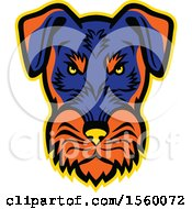Clipart Of A Retro Angry Jagdterrier Dog Mascot Royalty Free Vector Illustration