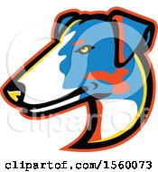 Clipart Of A Retro Smooth Fox Terrier Dog Mascot Royalty Free Vector Illustration