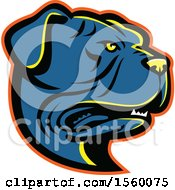Clipart Of A Retro Leavitt Bulldog Dog Mascot Royalty Free Vector Illustration