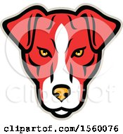 Clipart Of A Retro Plummer Terrier Dog Mascot Royalty Free Vector Illustration