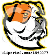 Clipart Of A Retro American Bulldog Dog Mascot Royalty Free Vector Illustration