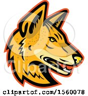 Clipart Of A Retro Arabian Wolf Dog Mascot Royalty Free Vector Illustration
