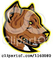 Clipart Of A Retro Spanish Bulldog Alano Espanol Dog Mascot Royalty Free Vector Illustration