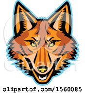 Clipart Of A Retro Coyote Mascot Royalty Free Vector Illustration by patrimonio